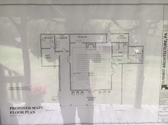 Closer view of the drawings for the community center
